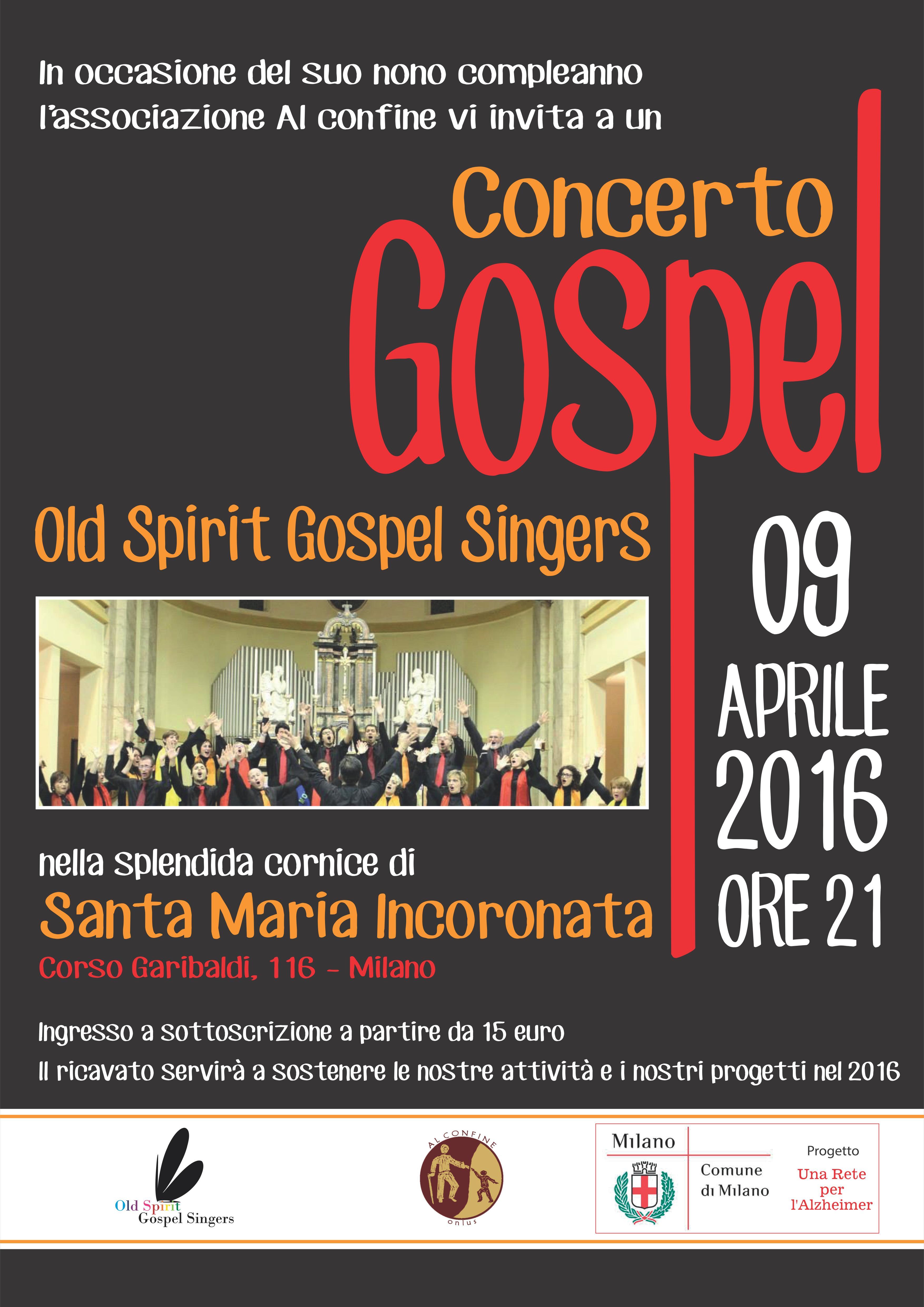 Old Spirit Gospel Singers in Concerto per Al confine Onlus